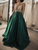 Chic A Line Prom Dress Green Cheap Satin Prom Grown VB5350