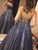 Ball Gown Sequins Gray Prom Dress Plus Size Sleeveless Prom Grown VB5351