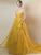 Yellow Sweetheart Prom Dress Tulle Vintage Beauty Prom Grown VB5358