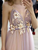 Elegant Pearl Pink Prom Dress With Handmade Flowers, Bridesmaid Dress VB5364