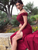 Mermaid Burgundy Prom Dress Off The Shoulder Beauty Evening Dress VB5392