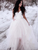 A Line Ivory Wedding Dresses V Neck Tulle Beauty Bridal Gowns VB5400