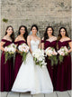 Cheap Chiffon Bridesmaid Dress A Line Off The Shoulder Bridesmaid Dress # VB5409