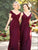 Cheap Chiffon Bridesmaid Dress A Line V Neck Bridesmaid Dress # VB5413