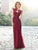 Chiffon Burgundy Bridesmaid Dress Cheap Wedding Party Dress # VB5414