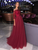 Off The Shoulder Lace Prom Dress A Line Evening Dress With Sleeve VB5424