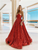 Vintage Red Sequins Prom Dress Ball Gown African Evening Dress VB5426