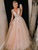 Ball Gown Cheap Prom Dress Tulle V Neck Evening Dress VB5429