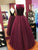Chic A Line Prom Dress Modest Burgundy Long Prom Dress #VB542