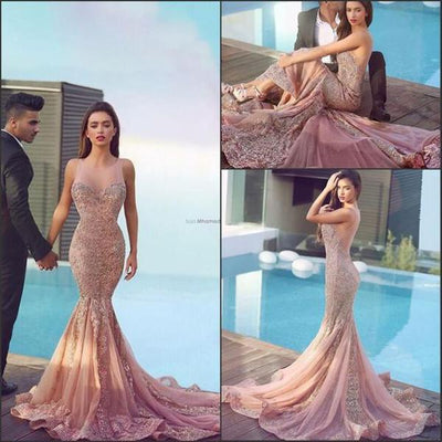 2018 Mermaid Prom Dress Lace Long Prom Dress # VB544 - DemiDress.com