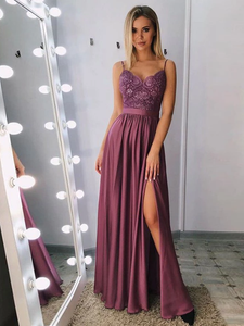 Chic A Line Cheap Prom Dress Sleeveless Long Evening Dress VB5440