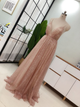 Chic A Line Sequins Prom Gown Sleeveless Gold Backless Prom Dresses VB5460