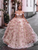 Off The Shoulder Floral Prom Dress Vintage Pink Prom Dresses VB5461