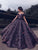 Colorful Sequin Princess Evening Ball Gowns Off Shoulder Formal Prom Dresses VB5477