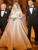Two Piece Long Sleeve Wedding Dresses Satin Ivory Bridal Gowns With Slit VB5480