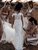 Chic Off The Shoulder Lace Wedding Dresse Mermaid Bridal Gown VB5486