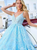 A-Line Lace Prom Dresse Straps Sleeveless Prom Dress VB5488