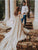 Off The Shoulder A Line Wedding Dresse Chic Bridal Gown With Sleeve VB5493