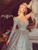 Gorgeous Ball Gown One Shoulder Long Sleeve Vintage Sparkle Ball Gown Prom Dress VB5495