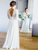 Elegant 3/4 Sleeve Backless Lace and Chiffon Rustic Wedding Dress VB5503
