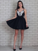Black Sleeveless Homecoming Dress A Line Cheap Short Prom Drsess VB5510