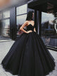 2018 Black Prom Dress Sweetheart Simple Long Cheap Prom Dress/Evening Dress # VB553 - DemiDress.com