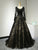 A-line Scoop Floor-length Long Sleeve Tulle Prom Dress/Evening Dress # VB624