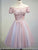 A-line Off-the-shoulder Short/Mini Short Tulle Homecoming Dress/Short Dress # VB874