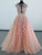 A-line Scoop Floor-length Short Tulle Prom Dress/Evening Dress # VB880
