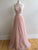 A-line Halter Floor-length Sleeveless Tulle Prom Dress/Evening Dress # VB882