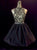 A-line High Neck Short/Mini Sleeveless Taffeta Homecoming Dress/Short Dress # VB893