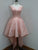 A-line Scoop Asymmetrical Short Tulle Homecoming Dress/Short Dress # VB898