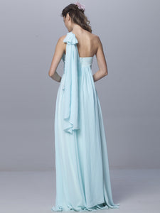 A-line Straps Floor-length Sleeveless Chiffon Bridesmaid Dresses # VB900