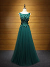 A-line Bateau Floor-length Sleeveless Tulle Prom Dress/Evening Dress # VB911