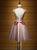 A-line High Neck Short/Mini Sleeveless Tulle Homecoming Dress/Short Dress # VB918