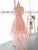 A-line Off-the-shoulder Asymmetrical Short Tulle Homecoming Dress/Short Dress # VB930
