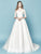A-line Scoop Sweep/Brush Train Half sleeve Tulle Wedding Dress # VB937