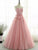 A Line Prom Dress Simple Modest Elegant Cheap Long Prom Dress #VB942