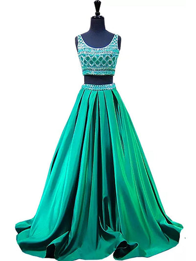 2018 Prom Dress Hunter Cheap Beautiful Rhinestone Long Prom Dress/Evening Dress # VB950 - DemiDress.com