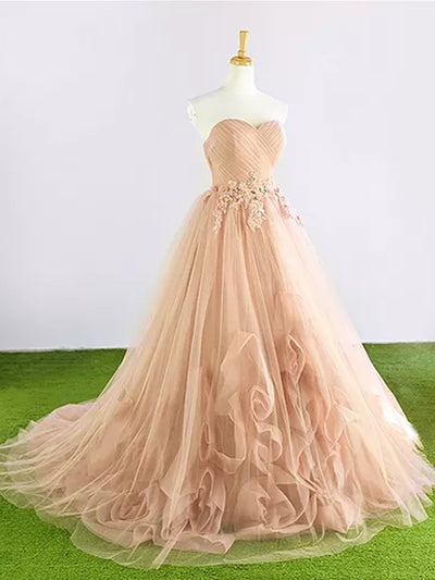 Beautiful Prom Dress Appliques Sweetheart Brush Train Popular Prom Dress/Evening Dress # VB957