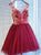 A-line Straps Short/Mini Sleeveless Tulle Homecoming Dress/Short Dress # VB959