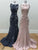 Sheath/Column Bateau Sweep/Brush Train Sleeveless Elastic Woven Satin Prom Dress/Evening Dress # VB962