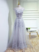 Chic Cheap Prom Dress Silver Unique A-line Long Prom Dress # VB969