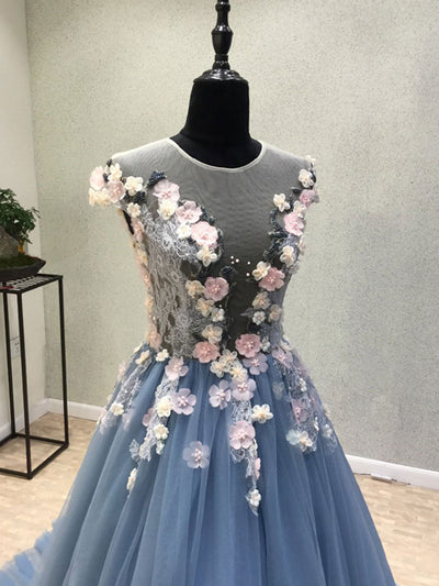 2018 A-line Prom Dress Lace Cheap Long Prom Dress # VB971 - DemiDress.com