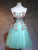 A-line Strapless Short/Mini Sleeveless Tulle Homecoming Dress/Short Dress # VB983