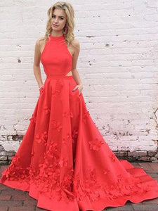 Chic Red Prom Dress Modest Popular Cheap Long Prom Dress #VB994