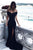 Mermaid Prom Dress Off-the-shoulder Brush Train Sexy Black Prom Dress/Evening Dress # VB995