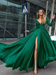 2018 A-line Prom Dress With Sleeves Cheap Long Prom Dress # VB996 - DemiDress.com