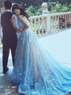 A-line Sweetheart Court Train Short Tulle Wedding Dress # VC1318