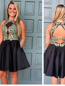2017 A-Line Homecoming Dress Short Prom Drsess Homecoming Dresses kmy324 - DemiDress.com